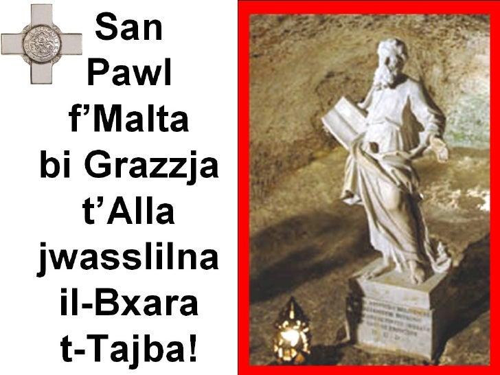 St Paul's Shipwreck in Malta