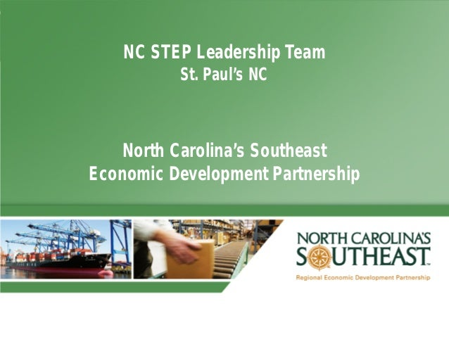 NC STEP Leadership Team          St. Paul's NC    North Carolina's SoutheastEconomic Development Partnership