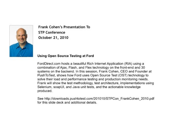 Using Open Source Testing at Ford