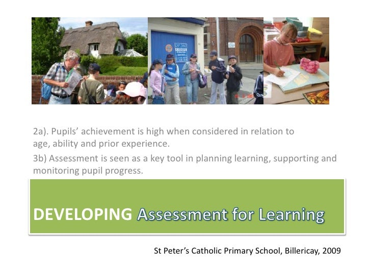 Assessment for Learning at St Peter's Primary School Billericay