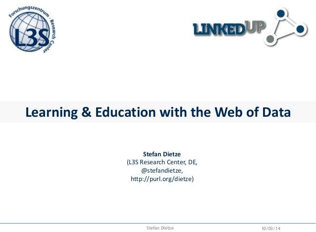 Open Data & Education Seminar, ITMO, St Petersburg, March 2014