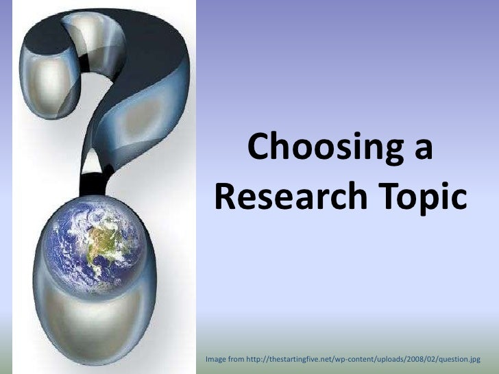 Choosing a thesis topic qualitative