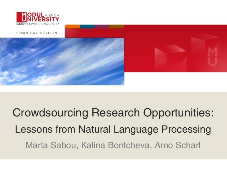 Crowdsourcing Research Opportunities: Lessons from Natural Language Processing