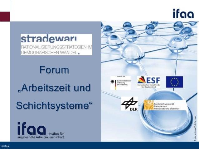 """Forum """"Arbeitszeit und Foto: adimas/Fotolia.com  Schichtsysteme""""  © ifaa"""