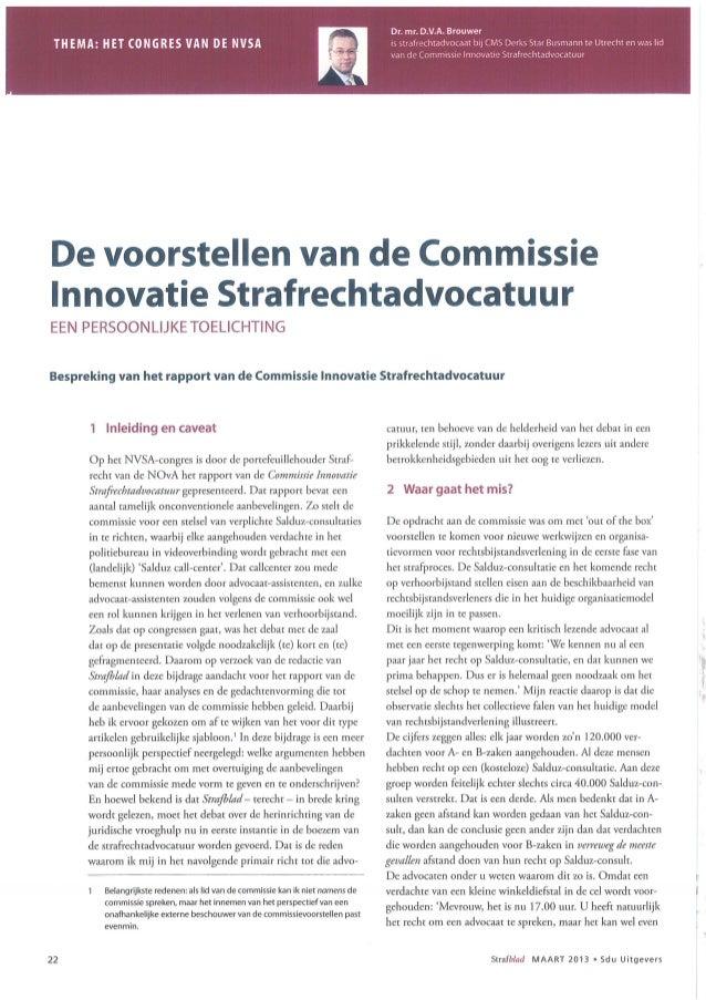 Innovatie in het strafrecht