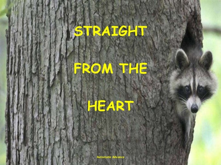 Straight from the heart