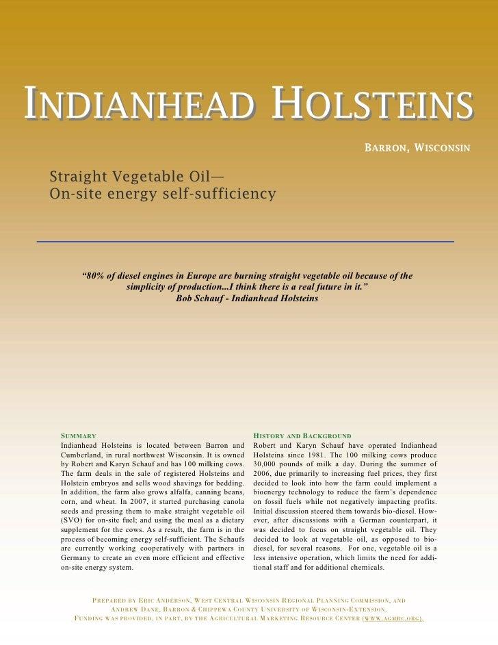 INDIANHEAD HOLSTEINS                                                                                               BARRON,...