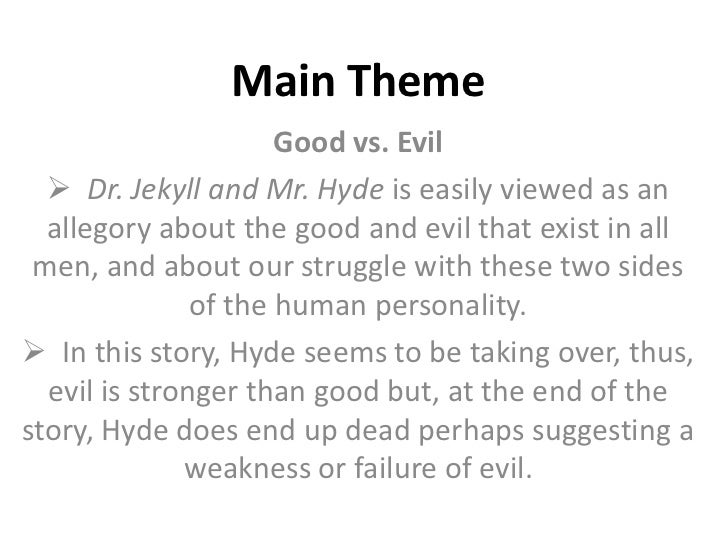 "the setting in dr. jekyll and mr. hyde by robert louis stevenson essay Robert louis stevenson brings the possibility of another self in one person to life in his creation of dr jekyll and mr hyde the quote ""man is not truly one, but truly two"" (stevenson 43), can be defined as every soul contains elements of both good and evil but one is always dominant."
