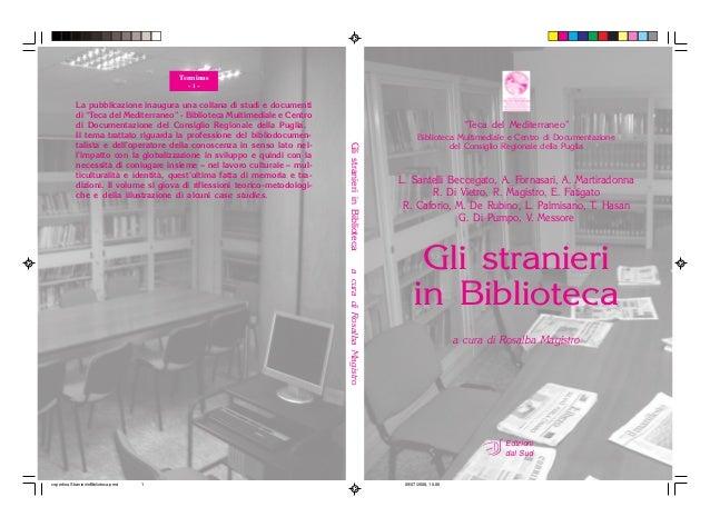 """Edizioni dal Sud """"Teca del Mediterraneo"""" Biblioteca Multimediale e Centro di Documentazione del Consiglio Regionale della ..."""