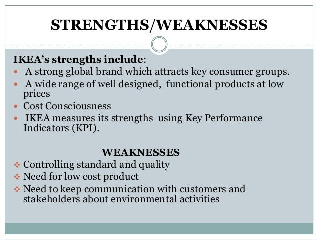 individual strengths and weaknesses