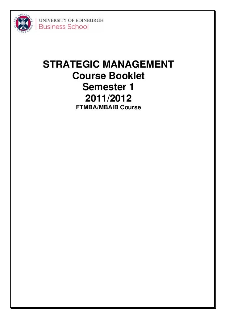 mba strategic management thesis pdf