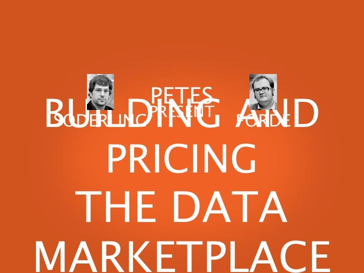 Building and Pricing the Data Marketplace