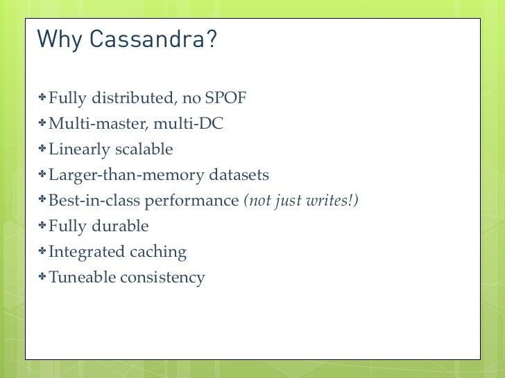 Apache Cassandra: NoSQL in the enterprise