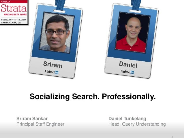 Socializing Search. Professionally.
