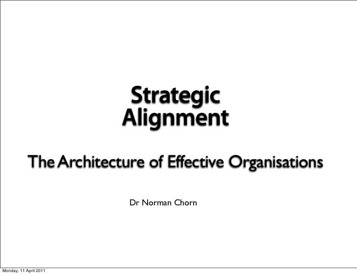 Strategic                         Alignment            The Architecture of Effective Organisations                        ...