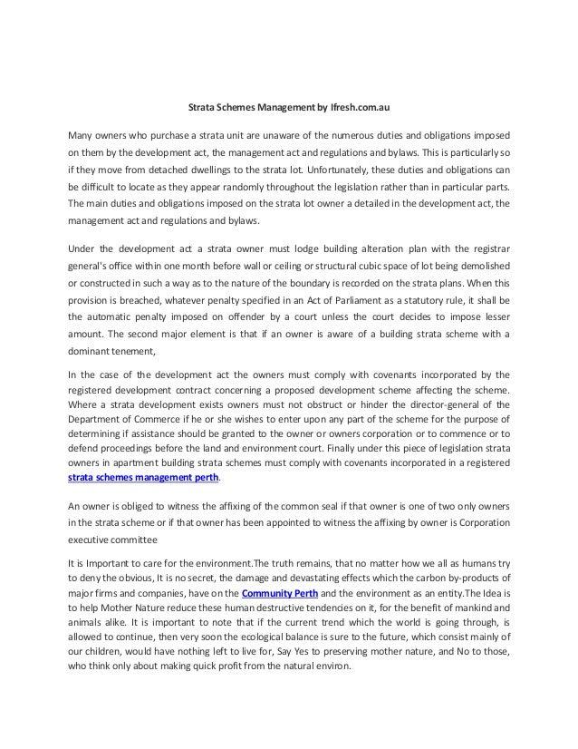 Strata schemes management by ifresh.com.au