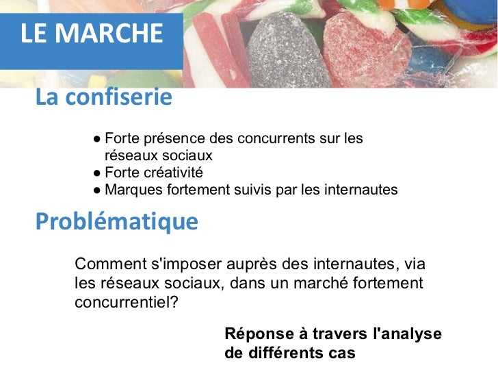 LE MARCHELa confiserie     ● Forte présence des concurrents sur les       réseaux sociaux     ● Forte créativité     ● Mar...