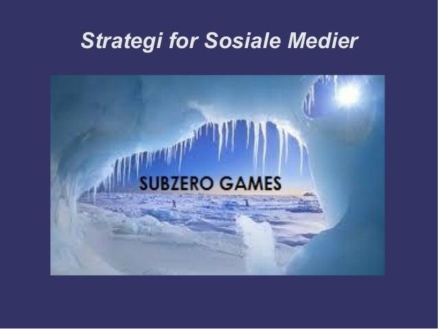 Strategi for Sosiale Medier