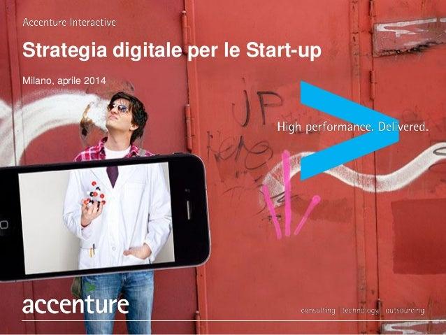 Strategia digitale per le Start-up Milano, aprile 2014