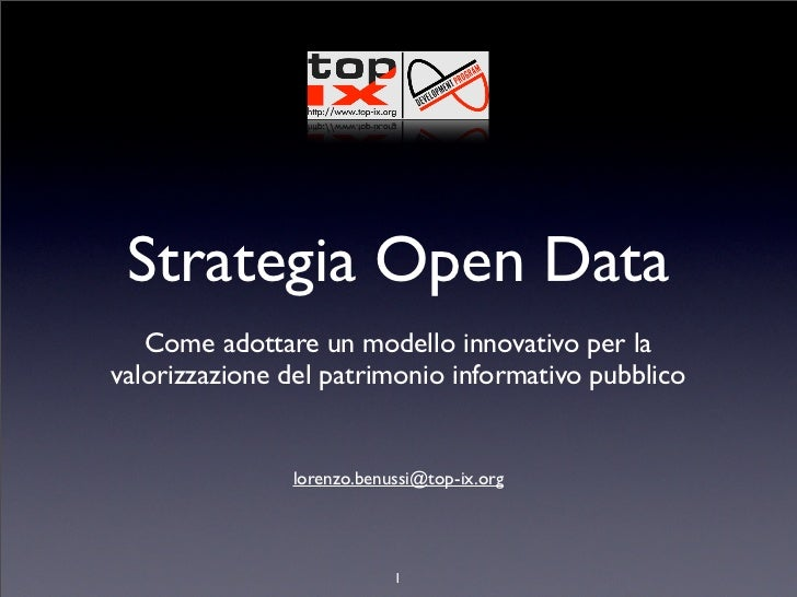 Strategia open data - long version