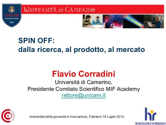 Spin-Off UNICAM - Imprenditorialità giovanile e innovazione
