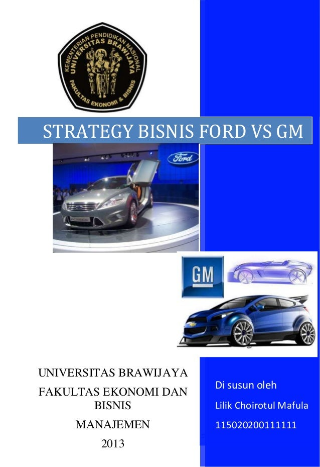 Strategi bisnis gm vs. ford