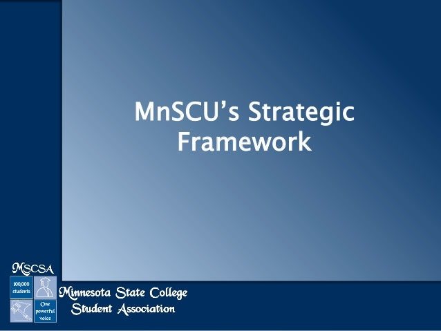 MnSCU's Strategic Framework