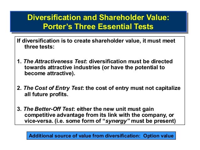 related diversification is a more successful Chap 008 - download as word doc (doc answer: e page: 243 b) related diversification offers more competitive advantage potential than does unrelated diversification combine similar activities and reduce costs the success of unrelated diversification is dependent upon.