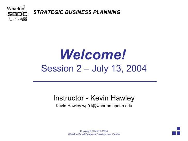 Strategic Business Planning Part 2