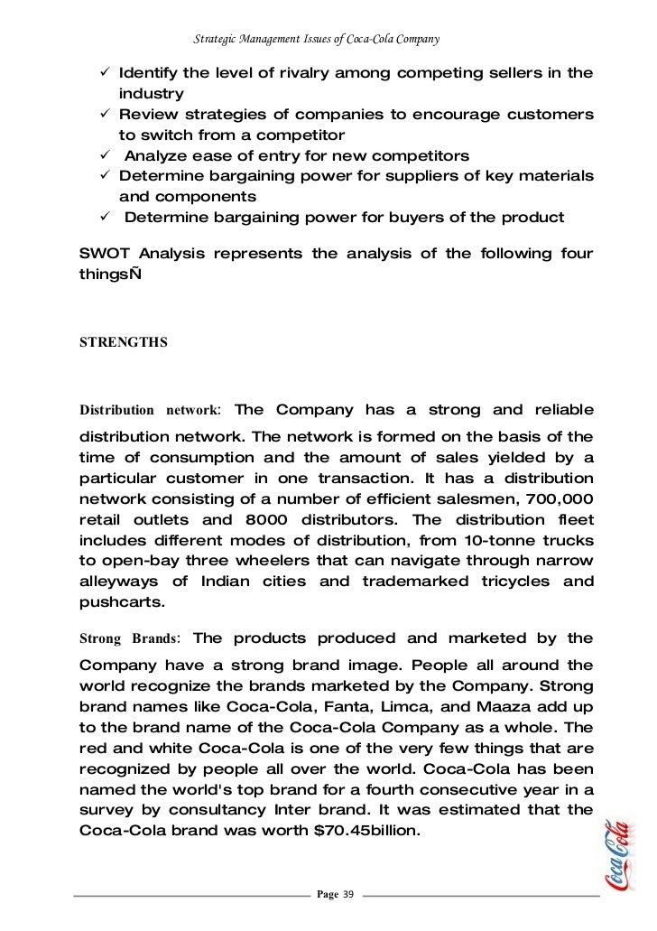 pepsi case study strategic management