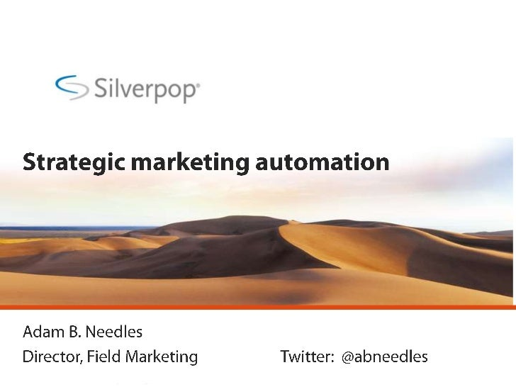 Strategic Marketing Automation