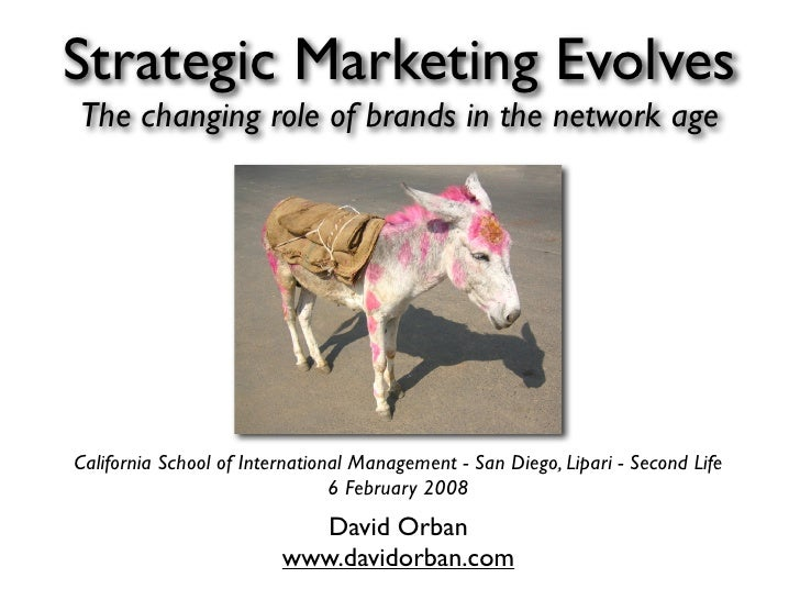 Strategic Marketing Evolves The changing role of brands in the network age     California School of International Manageme...