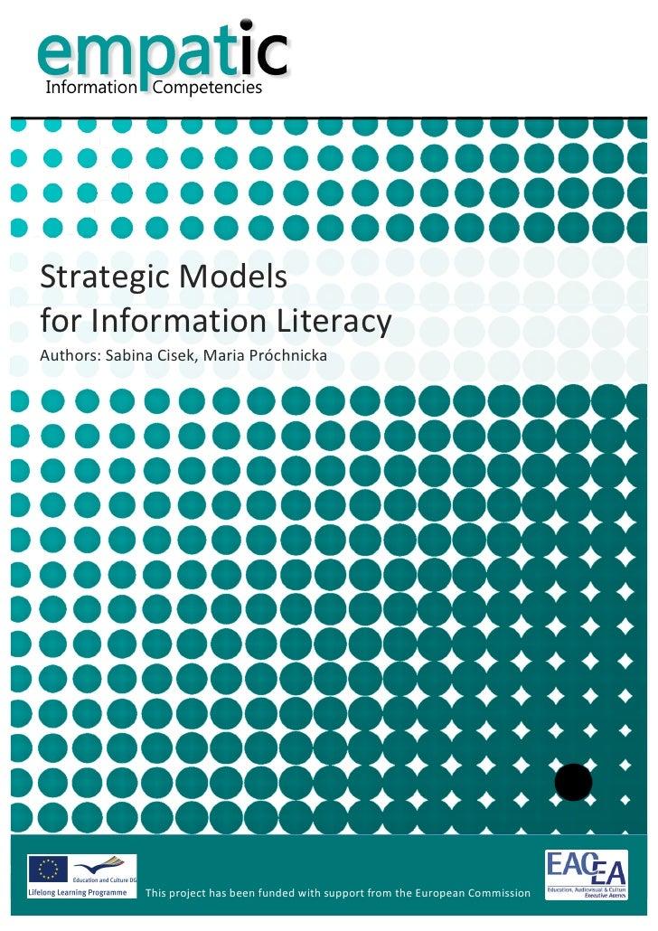 Strategic Models for Information Literacy