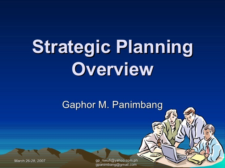 Strategic Planning: An Overview