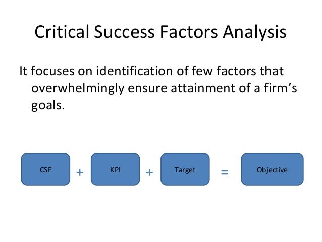 critically analyze the factors that have