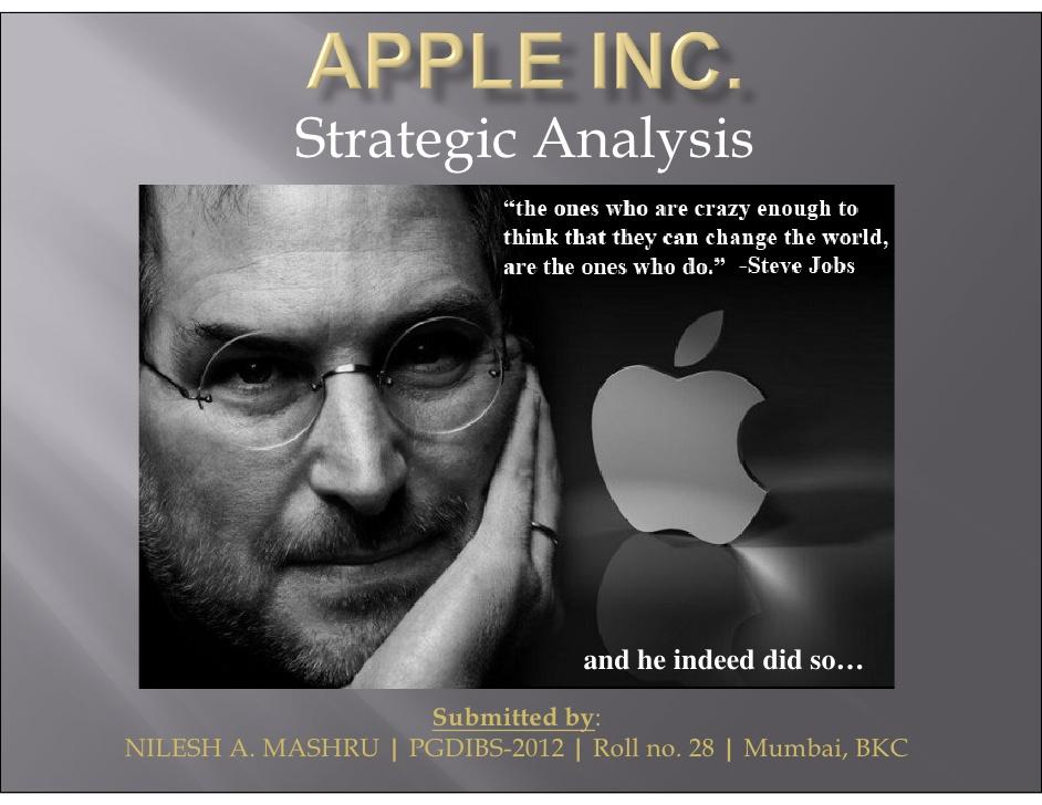 apple inc case study harvard business review
