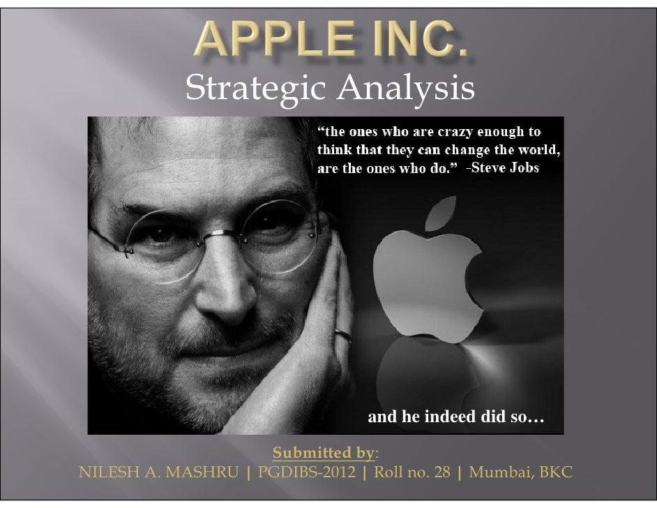 Strategic Analysis Of Apple Inc Nilesh Mashru