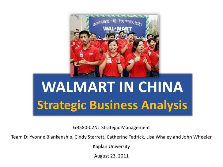 Strategic Business Analysis, August 2011