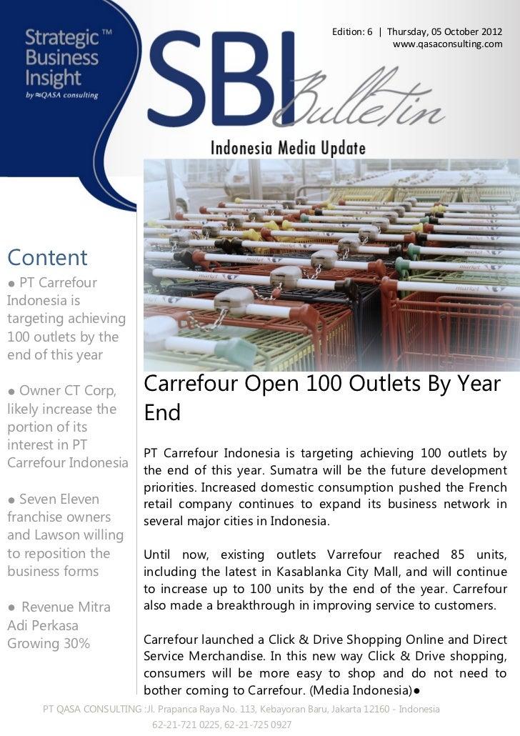 Qasa - Strategic business insight e bulletin Retail