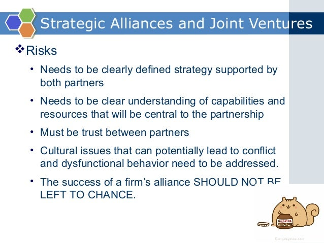 the advantages of strategic alliances essay Explain the advantages of strategic alliances and joint ventures a strategic alliance is a cooperative relationship among two or more firms to pursue a specific.