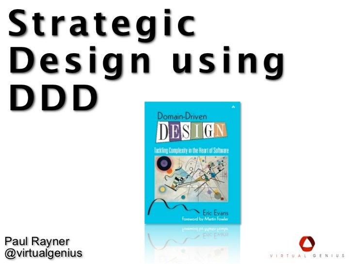 Strategic design using ddd