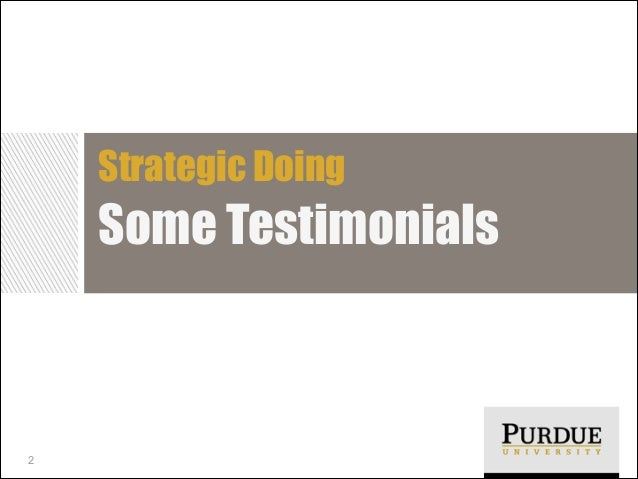 Strategic Doing Testimonials