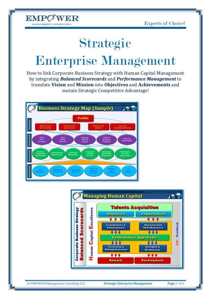 Strategic Enterprise Management Seminar