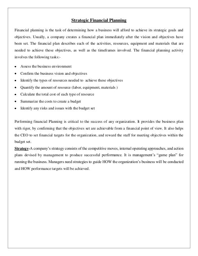 Strategic financial management case study with solution