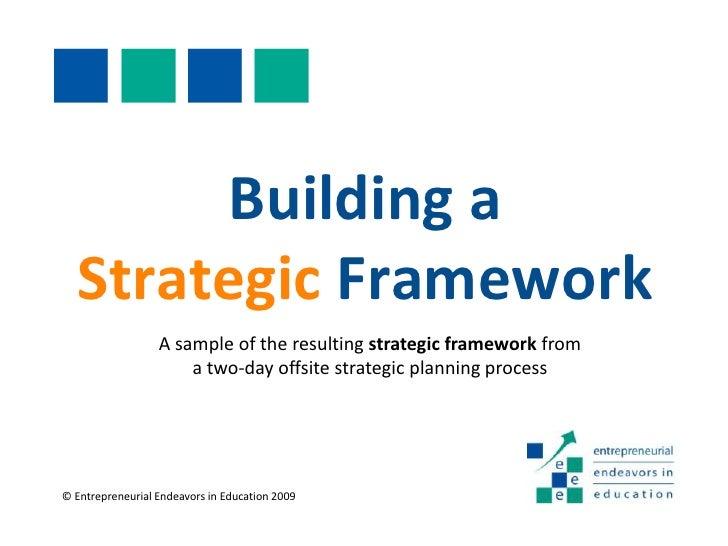 Strategic Frameworking Process
