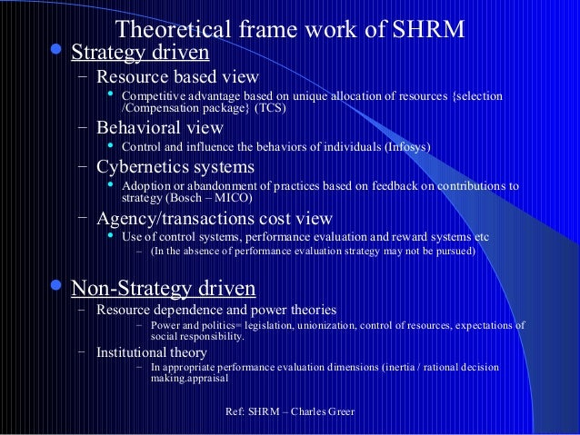 resource based view of strategy The resource-based view is a framework for understanding strategic management it focuses on the firm, in contrast to traditional industrial.