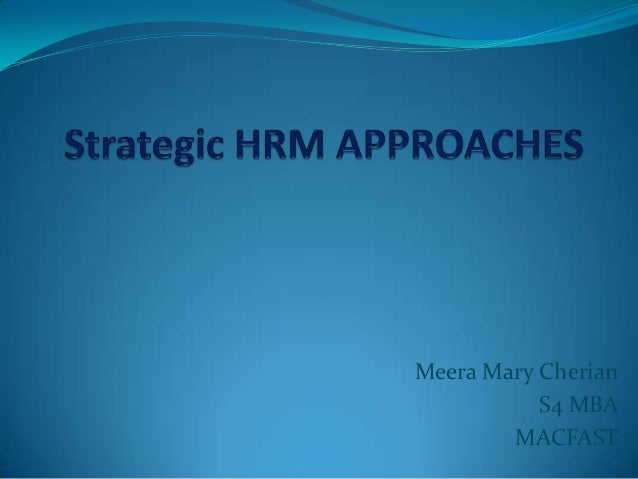 human resource management approaches