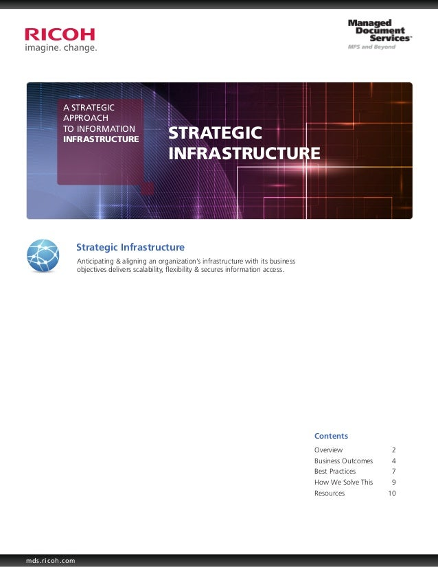 A STRATEGIC         APPROACH         TO INFORMATION         INFRASTRUCTURE                       STRATEGIC                ...