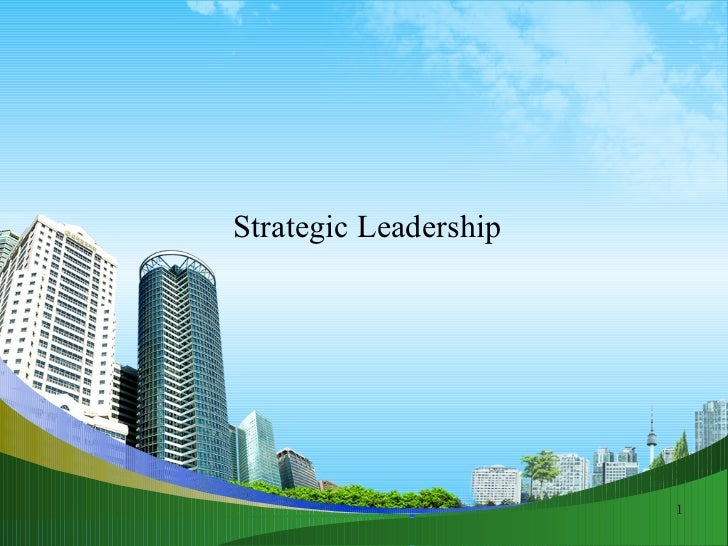 Strategic leadership @ bec doms