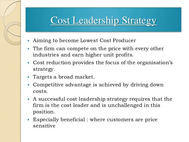 cost leadership examples of india Kenyan cost leadership example george ocarl, member in kenya we have an excellent example of cost leadership in the telephony industry where one service provider ( airtel ) lowered the cost of making calls drastically and outdid their competitors (safaricom and others) within months.